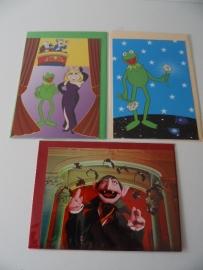 Drie kaarten Muppets (Art.14-1369)