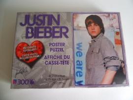 Justin Bieber puzzel nog nieuw uit 2011 met poster (Art.16-2652)