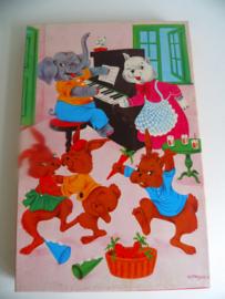 Pin-Kwin houten puzzel nr.2 jaren 60/70 (Art.18-1869)
