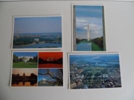 4 Ansichtkaarten Washington DC (Art.16-1430)
