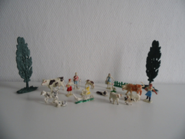 Setje oude boerderij dieren jaren 60 (Art.20-1626)
