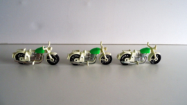 3 Playmobil politie motor's  jaren 70 (Art.20-1392)