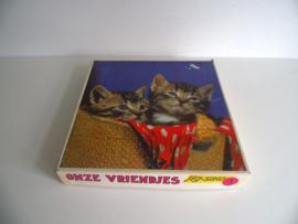 """Houten """"Onze vriendjes"""" puzzel jaren 60/70 (Art.18-1403)"""