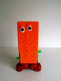 Fisher Price meetlat uit 1982 #610 (Art.16-2074)