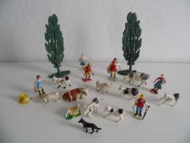 Setje oude boerderij dieren jaren 60 (Art.20-1618)