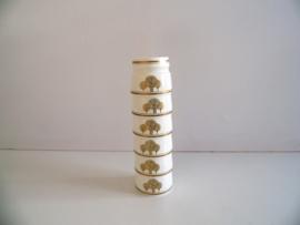 6 eierdopjes uit de jaren 80 (Art.20-1105)