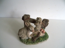 Beeldje konijnen (Art.14-2493)