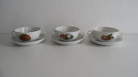Drie mooie vintage soepkommen Royal Schwabap (Art.20-1499)