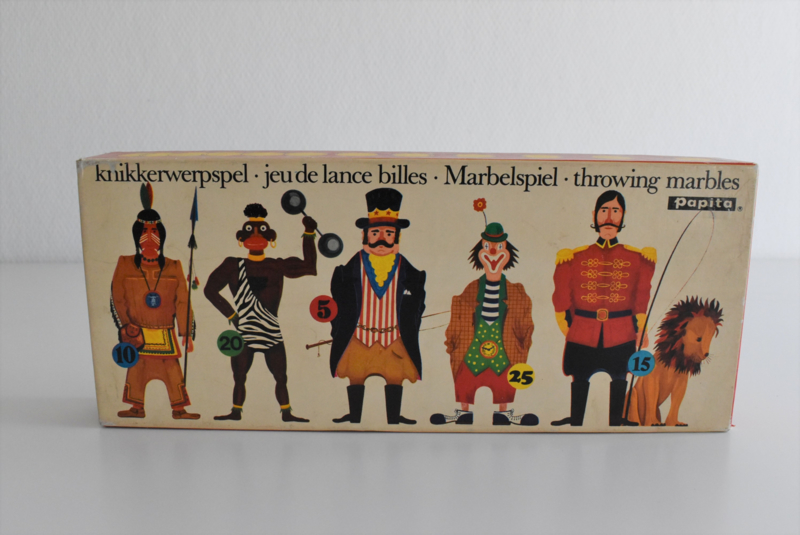 Papita knikkerwerpspel jaren 50/60 (Art.21-1792)