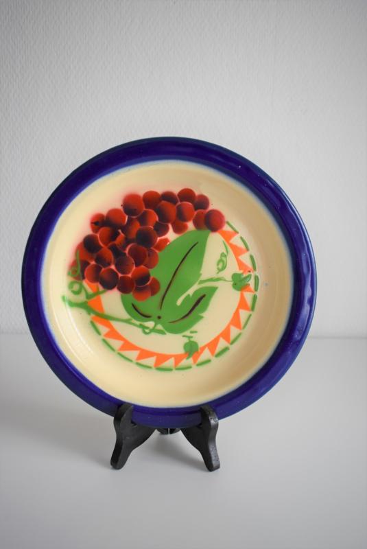 Emaille dinerbord met afbeelding druiven (Art.21-2035)