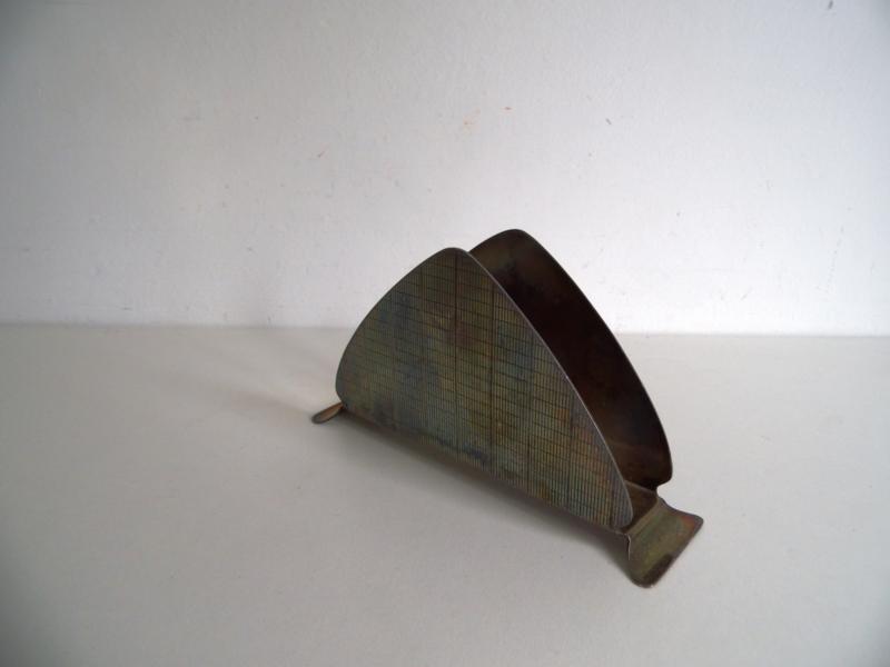 Verzilverde servethouder jaren 50/60 (Art.18-1715)