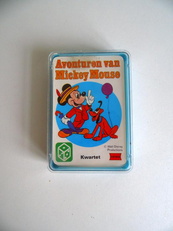 Kwartet van je Hema uit de jaren 70 Avonturen van Mickey Mouse (Art.18-1233)