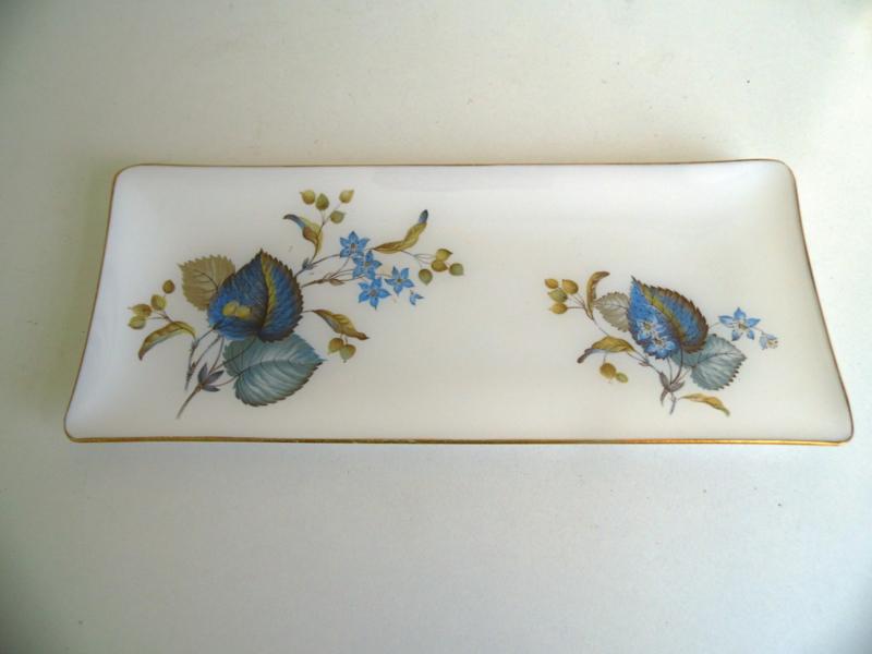 Glazen cakeschaal jaren 60/70 (Art.18-1538)