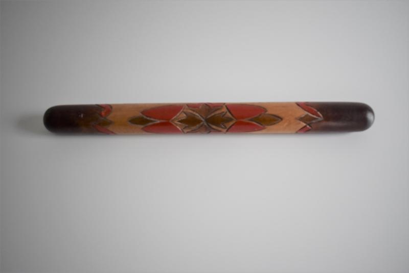 Houten haaknaaldenkoker met 8 haaknaalden  (Art.21-1681)