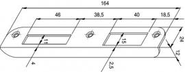 Hoeksluitplaat HP646