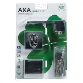 AXA 6605 Veiligheidsbeslag met rechte Rozetten Kerntrek SKG***