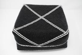 Kralendoos zwart 24 cm