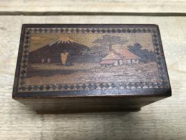 Antiek doosje visitekaartjes