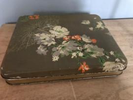 Antiek blik bloemen