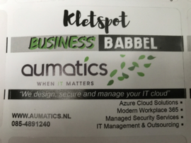 Nr 12 Business Babbel kletspot met eigen logo