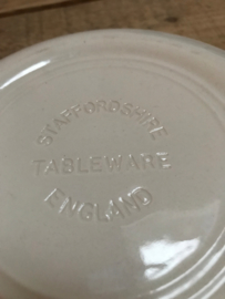 Blauw wit bord Staffordshire