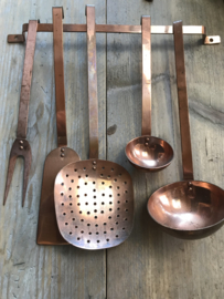 Set koperen keukengerei