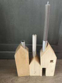 Kandelaar huis hout small