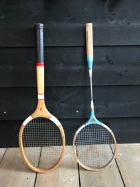 set tennisracket en badmintonracket