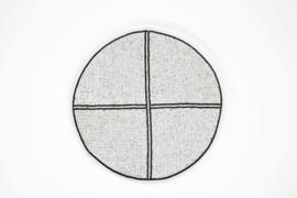 Wandbord wit 35 cm