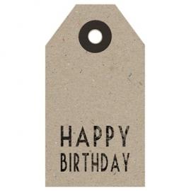 Label. Happy Birthday