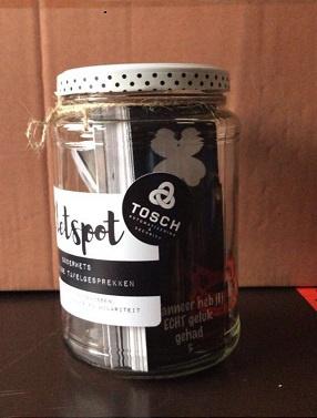 Gepersonaliseerde Kletspot met logo sticker