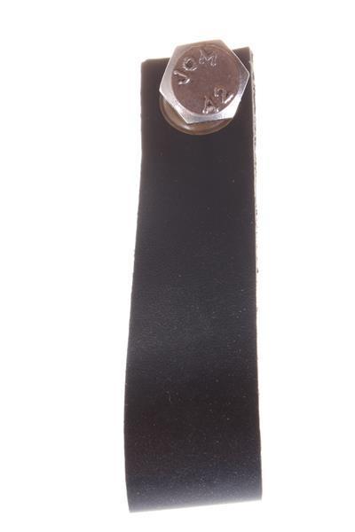Leren Handgreep zwart 9 cm