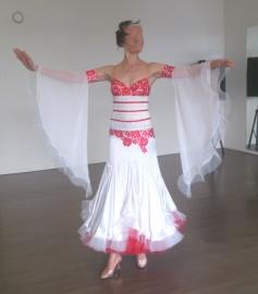 vnd0053 White ballroomdress