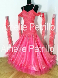 vna0079 CORALFLOWER Ballroomdress