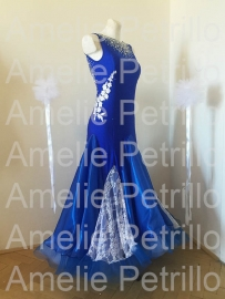 vna0082 BLUE SMOOTH ballroomdress
