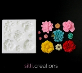 M0122 Sillicreations Mould | Flower Set