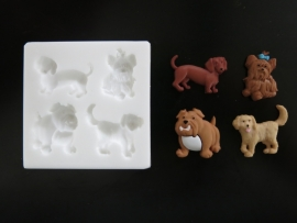 M0105 Sillicreations Mould | Dogs