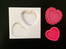 M0110 Sillicreations Mould   Heart Frames