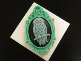 M0114 Sillicreations Mould | Owl Cameo