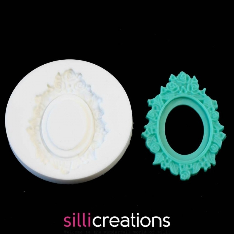 M0054 Sillicreations Mould | Cameo Frame Roses