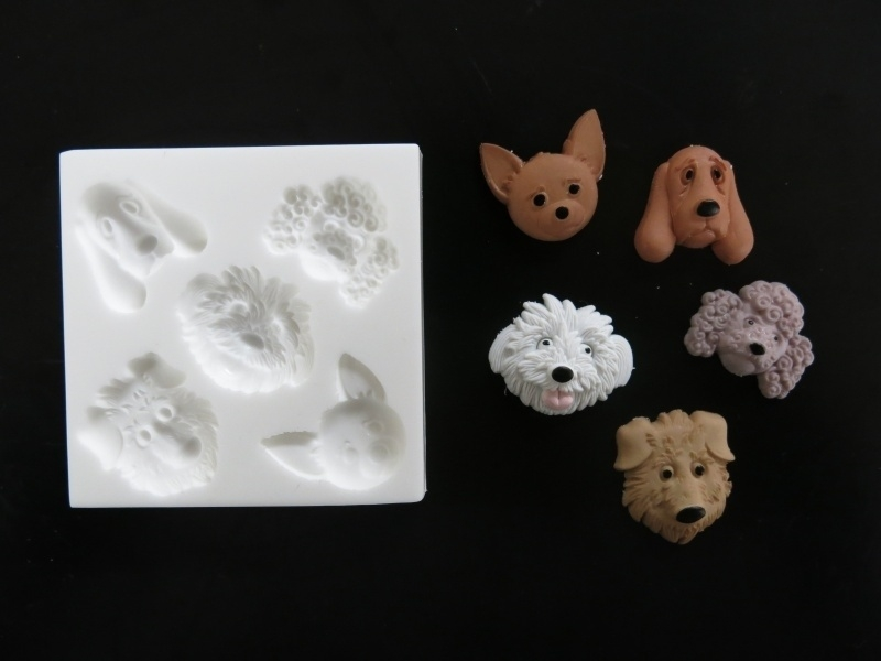M0119 Sillicreations Mould | Dog Faces