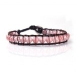 2012552 Lu Lu armband enkel met Licht roze half edelstenen