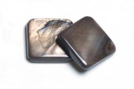 90204 Parelmoer plat dk bruin 12 mm