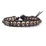 2012553 Lu Lu armband enkel met licht bruine kralen