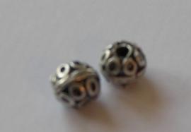 70011 Metalen kraal bewerkt 12 mm