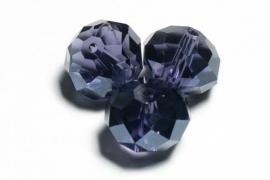 39322 Kristallen rondel 9x12 mm Tanzanite
