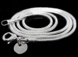 1 mm zilveren ketting