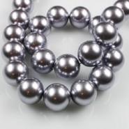 40020 Parel staal zilver grijs rond 6 mm
