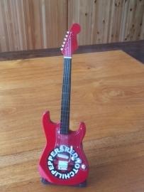 G2016034 Red Hot Chili Peppers decoratie gitaar  rood