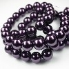 41009 Parel dark purple rond  8 mm